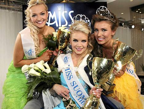 Lotta Hintsa on uusi Miss Suomi. Hänen perintöprinsessansa Maija Kerisalmi ja Helianna Ylimaula