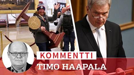 Valtiopäivien avajaispuheessaan presidentti Sauli Niinistö mainitsi muun muassa esimerkkitapauksen hyökkäyksestä Yhdysvaltain kongressiin.