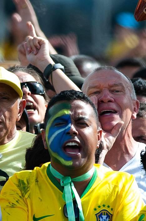 Bolsonaron kannattajia Brasiliassa, Brasilian pääkaupungissa.
