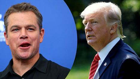 Matt Damon väittää, että Trumpilla oli yksi ehto sallia elokuvien filmaaminen omistamissaan rakennuksissa.