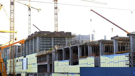 Pasilaan nousevan Triplan rakennustyömaa on kokoluokaltaan valtava.