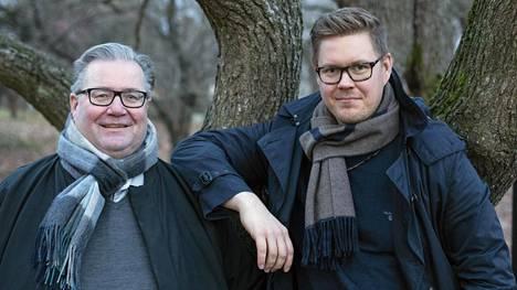 Isä ja poika eli Jouko ja Antti Lindtman.