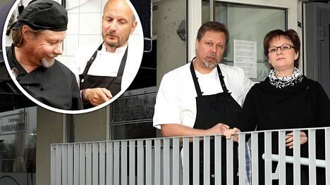 Hans Välimäen ohjeet antoivat uutta virtaa tekemiseen, kehuu ravintola Cantina Pannuhuonetta Hämeenlinnassa pyörittävä Timo Lyytinen vaimonsa Helenan kanssa.