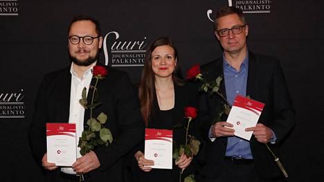 Vuoden journalistiksi ovat ehdolla Paavo Teittinen, Sonja Saarikoski ja Antti Kuronen.