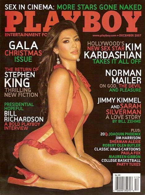 Kim Kardashian on esitellyt sulojaan seksivideon lisäksi myös Playboyssa.