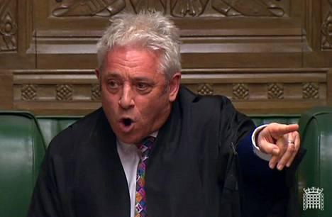 """Parlamentin alahuoneen puhemies John Bercow kutsui hallituksen aikeita """"perustuslailliseksi skandaaliksi""""."""