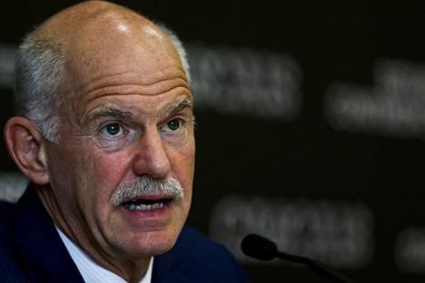 George Papandreou on Pasok-puolueen johtajistossa. Hän on Kreikan entinen pääministeri.