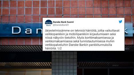 Danske Bankilla on teknisiä häiriöitä.