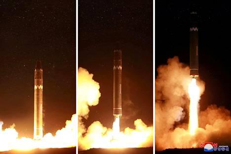 Pohjois-Korea on julkaissut kuvia, joiden se sanoo esittävän uuden ohjuksen testilaukaisua.