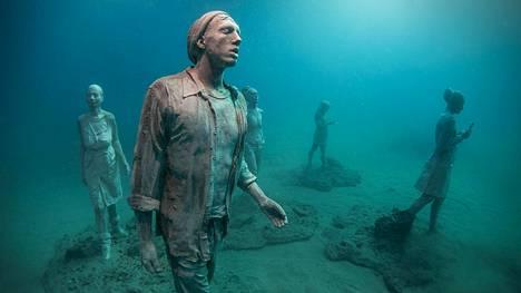 Lanzaroten vedenalaisessa museossa on yli 300 veistosta.