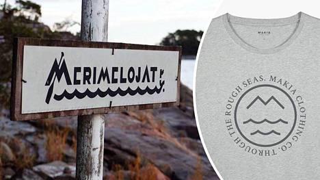 Helsingin Merimelojissa huomattiin, että Makian vaatemallistossa on myös heidän yhdistyksensä logolta näyttävä kuvio.
