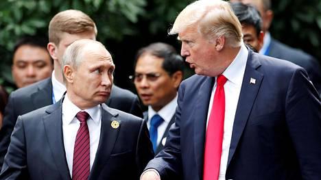 Donald Trumpin keskiviikkoisen lausunnon mukaan hän aikoo keskustella Vladimir Putinin kanssa ainakin Syyriasta ja Ukrainasta