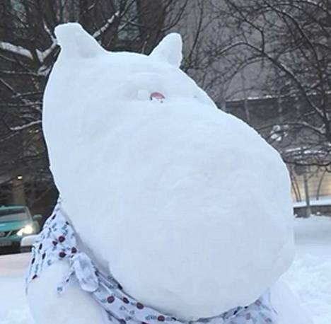 Kuva 7. Minkä puolueen lumiukko?