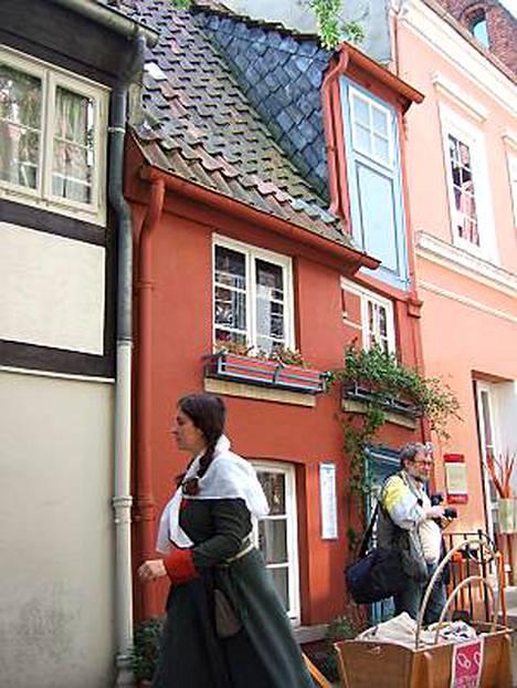 Bremenin pienimmässä talossa on pinta-alaa 41 neliötä - jaettuna kolmeen kerrokseen. Talo on vain neljä metriä leveä.
