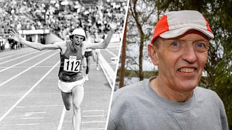 Suomalaisia urheilun seuraajia sykähdyttänyt Pekka Päivärinta tuuletti voittajana muun muassa kesäkuussa 1971.