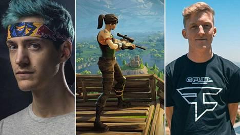 """Tyler """"Ninja"""" Blevins (vasemmalla) ja Turner """"Tfue"""" Tenney ovat molemmat kritisoineet automaattitähtäystä."""