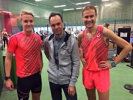 Valentin Kononen on valmentanut Aku Partasta vuodesta 2012 ja Jarkko Kinnusta viime syksystä lähtien.
