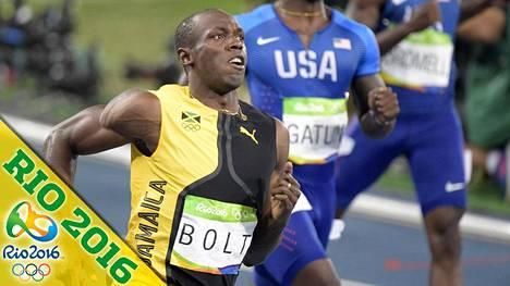 Usain Bolt oli satasen finaalin jälkeen ihmeissään Justin Gatlinin kohtelusta.