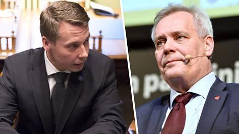 Antti Rinne kommentoi Tuomas Kurttilan taksiajoja kieli keskellä suuta.