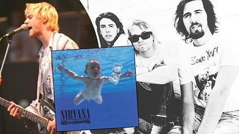 Kurt Cobain (vas.) olisi halunnut Nevermind-levyn kanteen vielä raflaavamman kuvituksen.