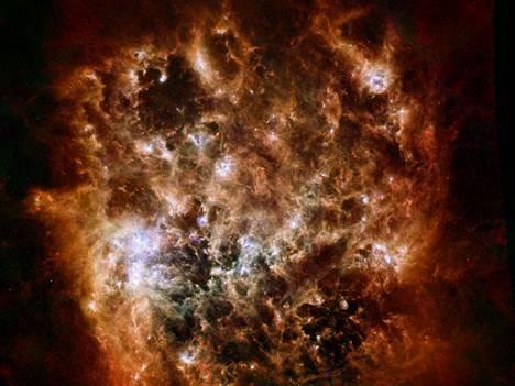Suuri Magellanin pilvi Herschel-kaukoputken kuvaamana.