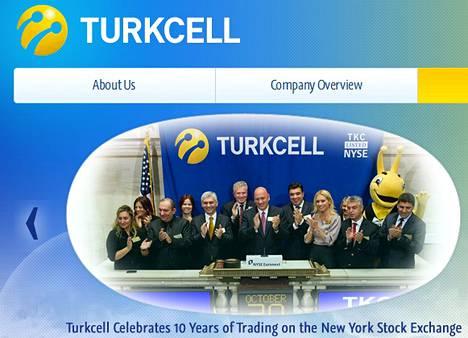 Turkcell on listattu New Yorkin pörssissä.