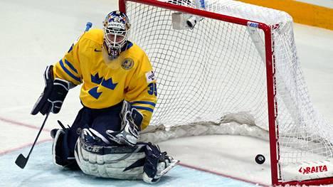 Tommy Salo Suomessa pelatuissa MM-kisoissa toukokuussa 2003.