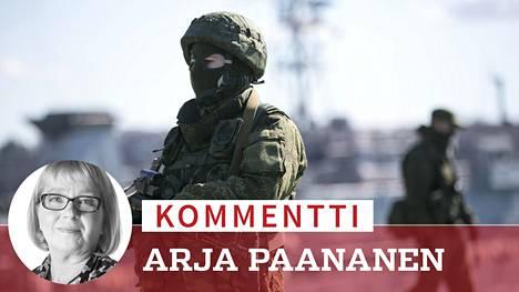 """Venäjä anasti Ukrainalta Krimin niemimaan keväällä 2014. Ukrainalaiseen väestöön hyvin sekoittuneet """"itsepuolustusjoukot"""" – eli toisin sanoen Venäjän lähettämät erikoisjoukkojen pienet vihreät miehet – ilmaantuivat Krimille viisi vuotta sitten 27. helmikuuta."""