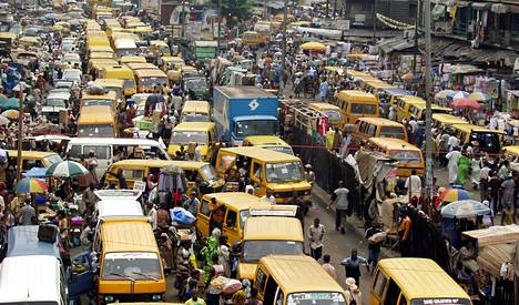Kehittyvät maat avainasemassa ilmastonmuutoksen vastaisessa taistelussa. Kuva Nigerian Lagosista.