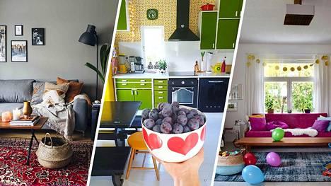 Värit ovat paitsi upeita, myös trendikkäitä. Suomalaiset sisustajat esittelevät upeat värikkäät kotinsa.