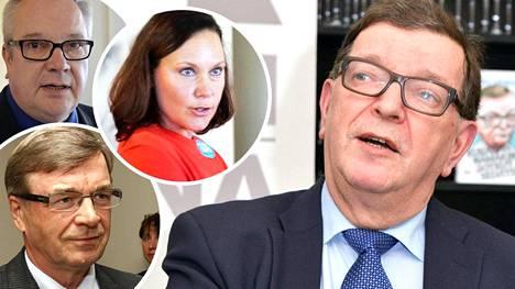 Kaj Turunen, Timo Kalli, Anne-Mari Virolainen ja Paavo Väyrynen.