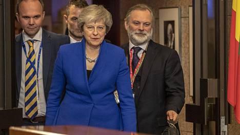 Britannian pääministeri Theresa May kohtasi rankkaa vastustusta brittiparlamentissa.