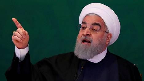 Iranin presidentti Hassan Ruhani kommentoi Yhdysvaltain presidentti Donald Trumpin päätöstä tiistai-iltana valtion tv-kanavalla.