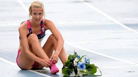Camilla Richardsson on toipunut loukkaantumisesta juoksukuntoon.