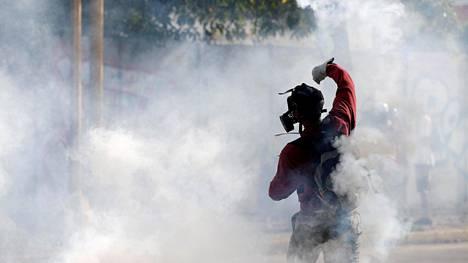 Mielenosoitukset Venezuelassa ovat jatkuneet.