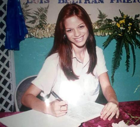 Michelle Lewin 14-vuotiaana.