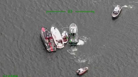 Rannikkovartioston ottama kuva onnettomuuspaikalta.