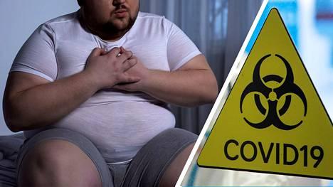 Suomessa kaikista koronan takia tehohoitoon joutuneista lähes puolet ovat vähintään merkittävästi lihavia, eli BMI on yli 30.