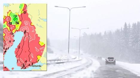 Meteorologin Karun Punainen Kartta Kaksi Kohtalokasta Saailmiota