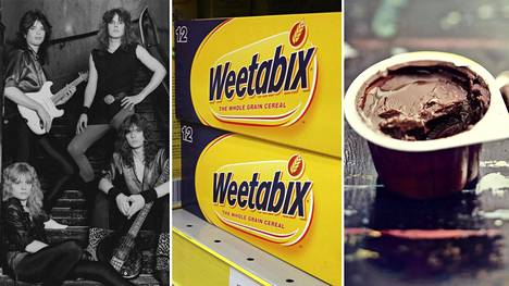 Kuvassa vasemmalta oikealle Europe, Weetabix ja Jacky-makupala. Miten sinä lausut ne?