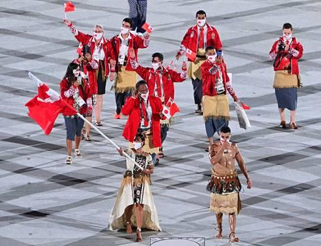 Tokiossa Taufatofuan rinnalla lippua kantoi  Malia Paseka.