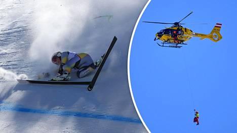 Vickhoff Lie kuljetettiin helikopterilla sairaalaan.