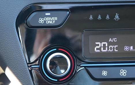 Näin säästyy pala maailmaa: ilmastoinnin saa toimimaan pelkästään kuskin puolella.