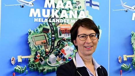 Kristillisdemokraattein puheenjohtaja Sari Essayah esitteli puolueen kuntavaaliohjelman keskiviikkona.