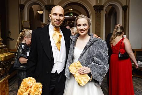 Saana Tyni ja puoliso Henri Haho.