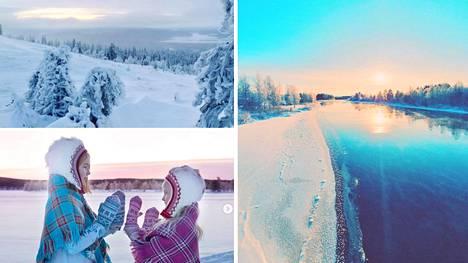 Suomalaisten lumiset kuvat Lapista ihastuttavat.