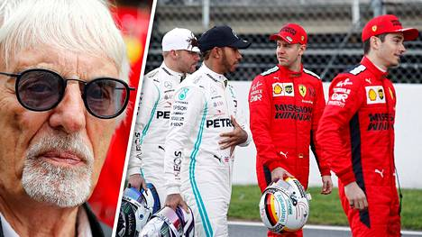 Bernie Ecclestone (vas.) otti kantaa F1:n kuskikaruselliin.