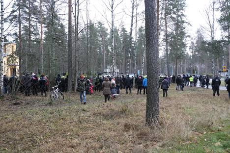 Tuomas Gerdtin hautajaiset kiinnostivat lappeenrantalaisia.
