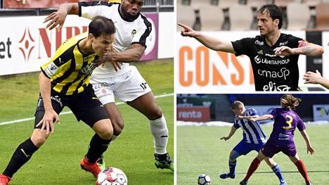FC Hongan Duarte Tammilehto (vas.), SJK:n Mehmet Hetemaj ja HJK:n Linda Ruutu pääsevät näillä näkymin aloittamaan kautensa kesä- ja heinäkuussa.
