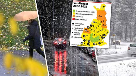 Suomeen on luvassa sadetta monessa muodossa.